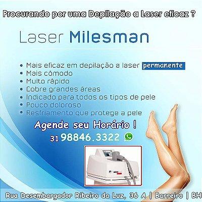 1, 3, ou 6 sessões de Depilação a Laser Milesman: Meia Perna a partir de R$99,00!