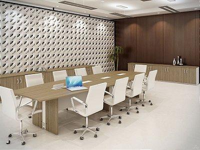 Mesa de Reunião Semi Oval AM Impéria Attuale