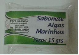 SABONETE GLICERINADO ALGAS MARINHAS 15 GRS CX COM 500