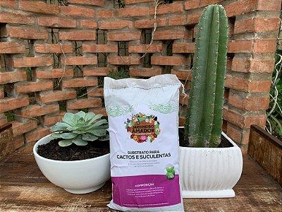 Substrato para Cactos e Suculentas - Produto Puro e Pronto para Usar