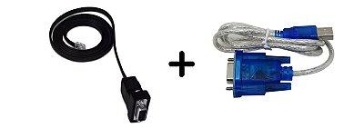 Cabo de Programação CRS232415 - RS232 - 2 metros + Conversor USB/SERIAL - ATOS