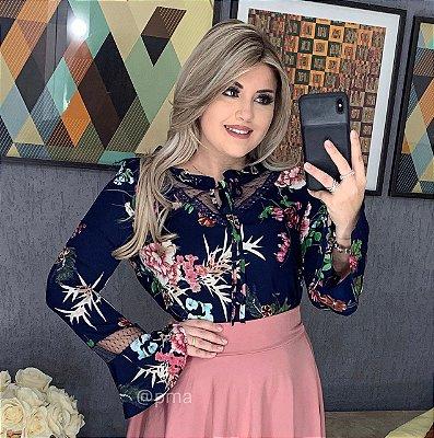 6dd479767 VESTIDO FLORENÇA AZUL MARINHO LONGO IMPORTADO - Platano Moda Atacado ...