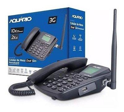 Telefone Celular Rural Aquário Ca-42s 3g Desbloqueado 2 Chip