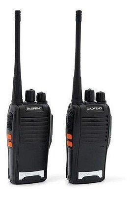 Radio Comunicador Kit C/2 777s Profissional Ht Uhf 16 Canais