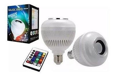Lampada Luz Led Rgb Bluetooth Música Caixa Som Festa Musica