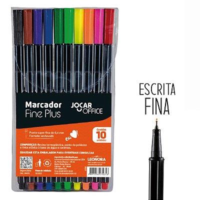 Caneta Marcador Ponta Fina 0,4mm com 10 Cores Uso Artístico