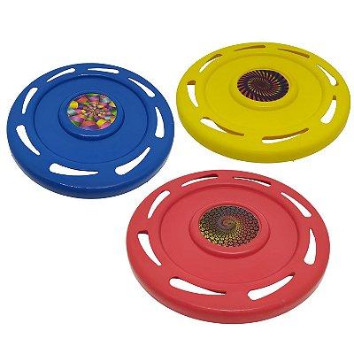 Frisbee Plástico - Disco de Lançar Voador para Praia / Piscina / Parque / Campo 21cm