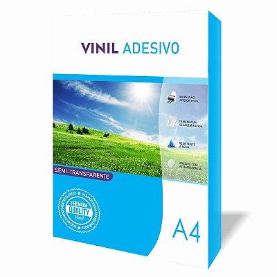 Vinil Adesivo Semi Transparente p Jato de Tinta A4 c/ 20 fls