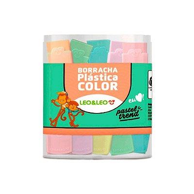 Borrachas Cor Pastel Com Capa - Caixa c/ 24 Unidades