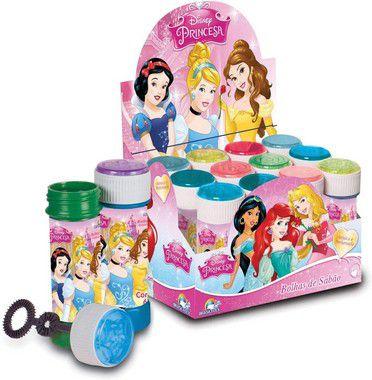 12 Bolinha Bolha de Sabão Princesas Original c/ Jogo