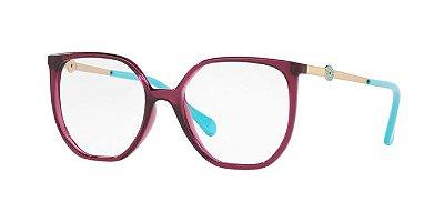 Óculos Kipling KP3126 G984 Roxo Translúcido Verde Lente Tam 51