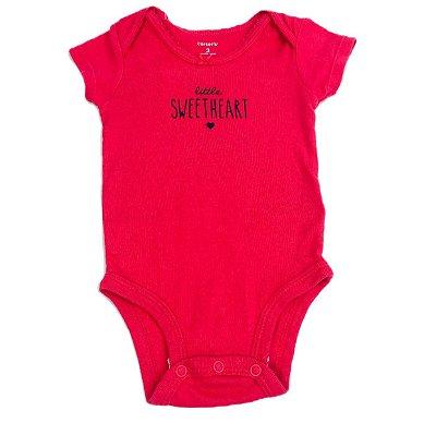 2bc02848c Body feminino Little Sweetheart 03 meses - Carter's