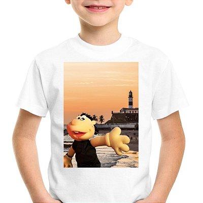 Camiseta Infantil Brutinho no Farol da Barra