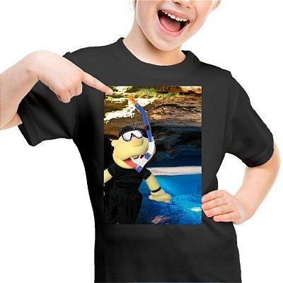 Camiseta Infantil Brutinho na Lagoa Azul