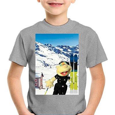 Camiseta Infantil Brutinho na Neve