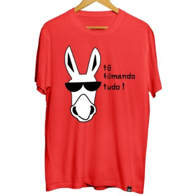 Camiseta Masculina Filmando Tudo