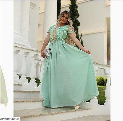 Vestido Fasciniu's Fascinius Longo Roupas Femininas
