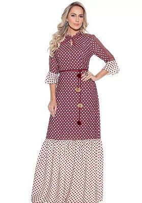 Vestido Fasciniu's   Longo  Roupas Femininas Moda Evangelica