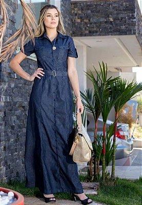 Vestido Jeans Tipo Sol Da Terra Longo Evangelica