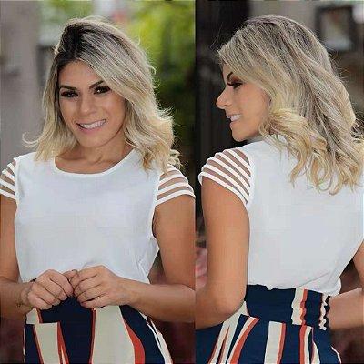 Blusas Em Crepe Com Detalhes Em Tule Moda Evangélica