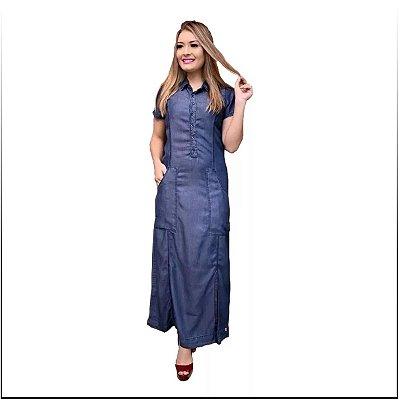 Vestido Jeans Longo Tipo Sol Da Terra Roupas Evangelicas