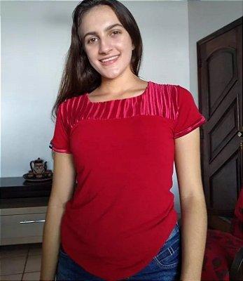 Blusa Em Viscolycra Com Detalhe Drapeado Roupas Evangelicas
