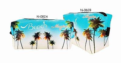 Necessaire Feminina Impermeável Praia Céu Azul - Magicc