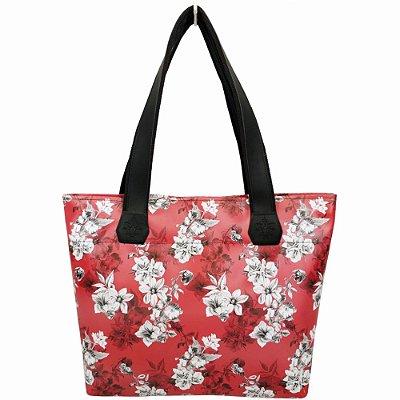 Bolsa Feminina Impermeável com Flores, Magicc