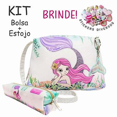 Kit Infantil Sereia Rosa, Magicc