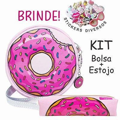 Kit Infantil Donuts Rosa, Magicc