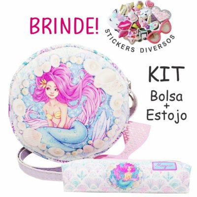 Kit Infantil Sereia Azul, Magicc