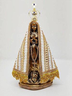 Nossa Senhora Aparecida pérola dourado