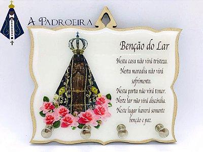 BENÇÃO DO LAR - PORTA CHAVES - MDF RESINADO