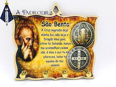 SÃO BENTO - PORTA CHAVES - MDF RESINADO