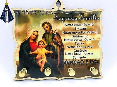 SAGRADA FAMILIA - PORTA CHAVES - MDF RESINADO