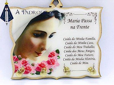 Porta Chaves oração Maria Passa na Frente - branco
