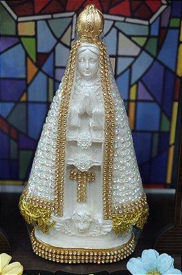 Nossa Senhora Aparecida brilho - 20cm