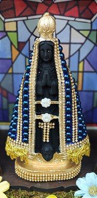 Nossa Senhora Aparecida pérola azul – 20cm
