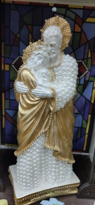 Sagrada Família pérolas branca - 25cm
