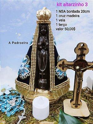 Kit Altarzinho da Mãe Aparecida (modelo 3)
