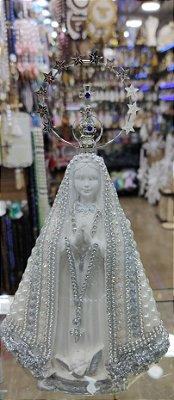 Nossa senhora Aparecida pérola prata
