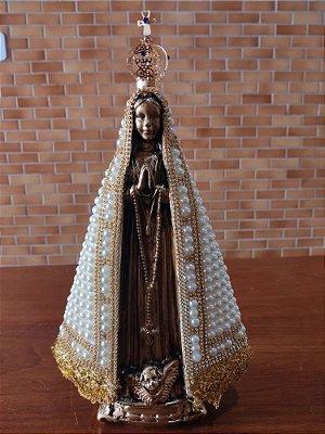 Nossa Senhora Aparecida pérola 32cm