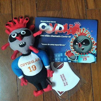 Covidilão, um vilão chamado Covid 19- KIt boneco+livro