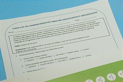 Checklist de Comportamentos para pré-adolescentes e adolescentes- Produto digital