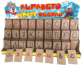 Alfabeto Móvel Degrau Cursiva