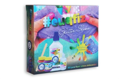 Kit para  duas Slimes com Glitter