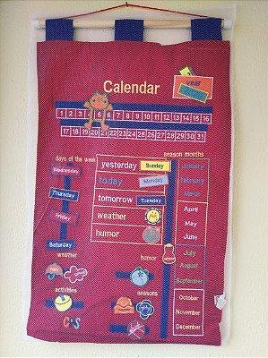 Calendário Bordado Inglês