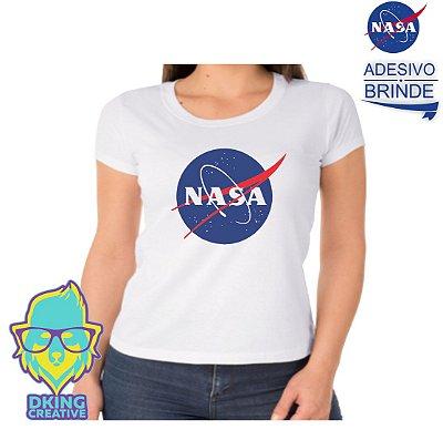 Blusa Baby Look NASA + Adesivo
