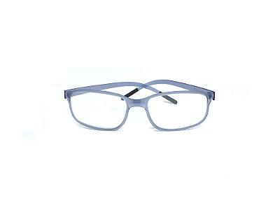 Armação ÓCULOS DE GRAU Marca: SWISSFLEX Material: NYLON Modelo: SFR2/54 Cor: Azul  Tamanho:56x16 Haste:145
