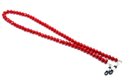 CORRENTE CRISTAL Modelo: TCHECO G cor Vermelho